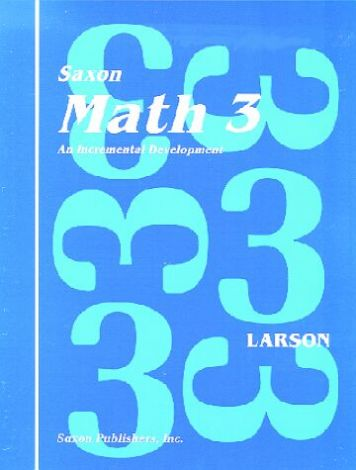 Saxon Math 3 Student Workbook Set with Fact Cards, 1st Edition