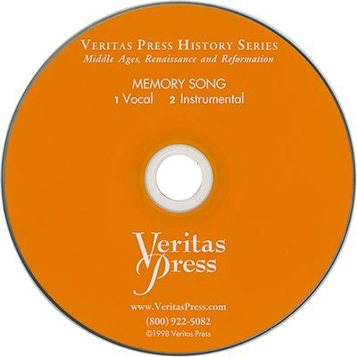 Middle Ages, Renaissance & Reformation Memory Song CD