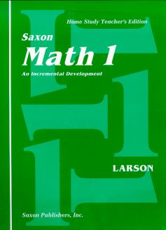 Saxon 1 Home Study Kit