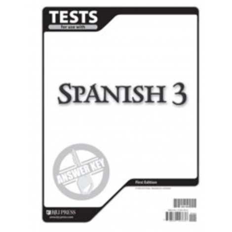 Spanish 3 Tests Answer Key